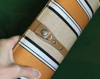 French Striped Baguette Clutch