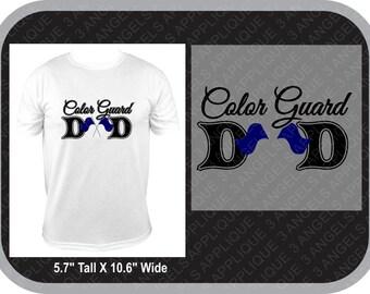 Color Guard Dad  SVG Cutter Design INSTANT DOWNLOAD