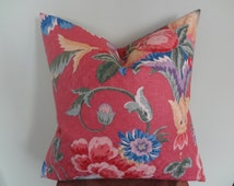 Decorative Pillow Cover Floral Fruit Pattern Red Yellow Green Violet Blue Toss Pillow Accent Pillow Throw Pillow