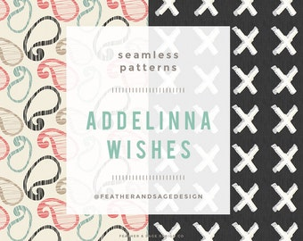 NEW!!! Addelinna Wishes Seamless Patterns  - INSTANT DOWNLOAD