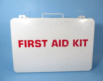 Industrial White Metal First Aid Kit - White Metal Wall First Aid Kit