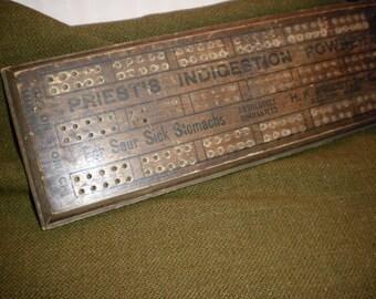 Advertising Cribbage Board