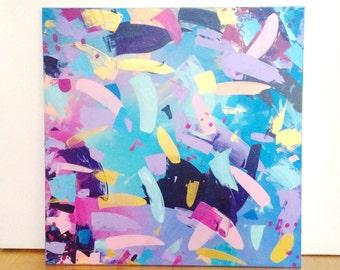 86 - original abstract painting (acrylic on canvas) wall art interior design homedecor