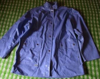 Vintage 90's Lavender Raincoat by Waterfalls Fashion Rainwear