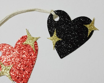 Sparkle Heart Emoji Gift Tags