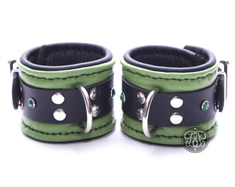 Green Machine BDSM Submissive Cuffs