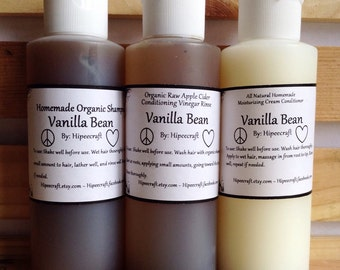 Travel Size Organic Shampoo and Conditioner Homemade Shampoo Conditioner Natural Shampoo and Conditioner With Vinegar Rinse