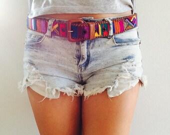 Maya Boho Leather Woven Belt