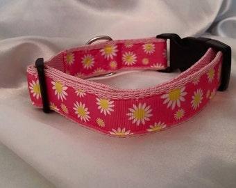 Handmade Dog Collar-Daisy (Matching Lead Available)