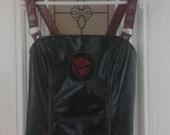LIP SERVICE red and black zip up vinyl top