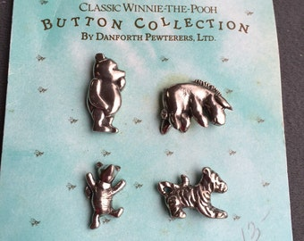 Winnie the Pooh Pewter Buttons- Danforth