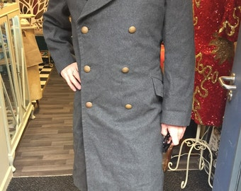 SALE Amazing military wool vintage mans overcoat
