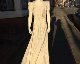 Beautiful white 1930's/40's gown could be a wedding dress