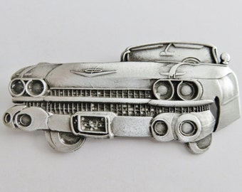 Vintage Pewter 1959 Cadillac Brooch Pin