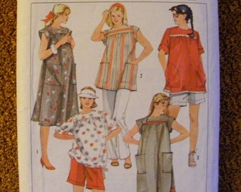 Maternity Pants Shorts Dress Top Misses' Size 14 Simplicity Sewing Pattern 6857