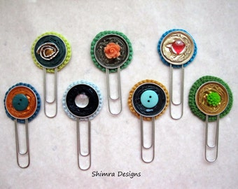 Eco-friendly fully customizable bookmark, made from recycled Nespresso capsules in Blues or Greens