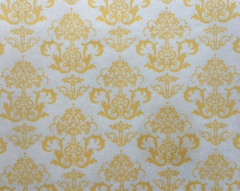 Gold Damask Edible Wafer Paper
