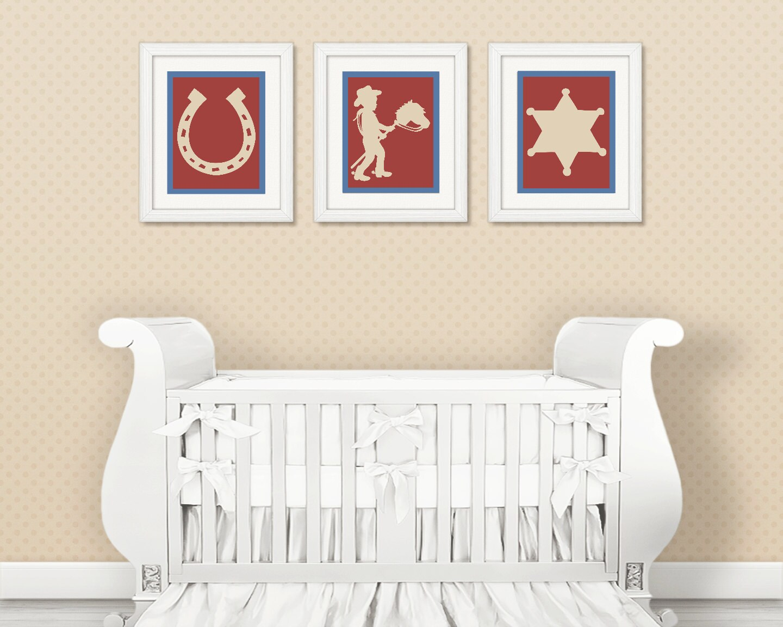 Cowboy Wall Decor Nursery : Cowboy nursery decor wall art