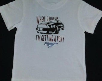 Toddler Ford Mustang T-Shirt or Mustang Baby Onesie