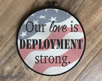 Our love is deployment strong print, army wife, military wife, marine wife, deployment