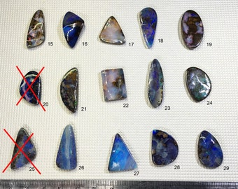 Natural Australian Boulder Opal Pieces - Loose Gemstones - One per order