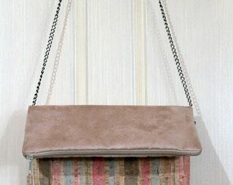 cork foldover clutch/ crossbody bag/cork crossbody bag