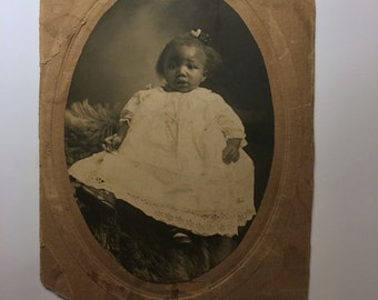 Vintage Photo - Cabinet Card- Sweet Little Baby Girl