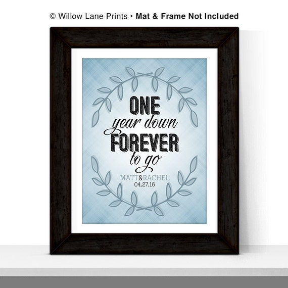 Personalized st anniversary gift for couple by