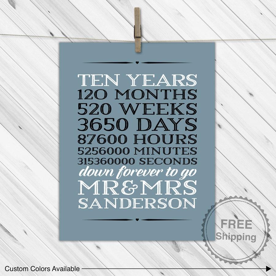 10 Year Wedding Anniversary Gift: 10 Year Anniversary Gift For Men 10th Wedding By