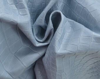 Ice Blue Gator Belly Leather Lambskin 4 Square Foot Hide 1 oz TA-31057 (Sec. 9,Shelf 4,A)
