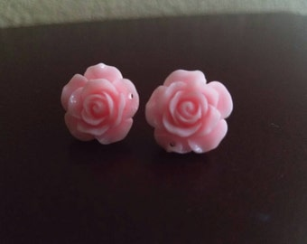 Pink Rose Stud Earrings, Rose Stud Earrings, Rose Earrings, Stud Earrings, Blue Rose Earrings, Cream Rose Earrings, Gray Earrings
