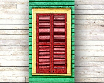 RED SHUTTER New Orleans art French Quarter Doors Architecture Door Photography Windows