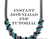 "Instant Download PDF Tutorial for Beaded Kumihimo Necklace ""Monica's Pop of Color in Light Teal"""