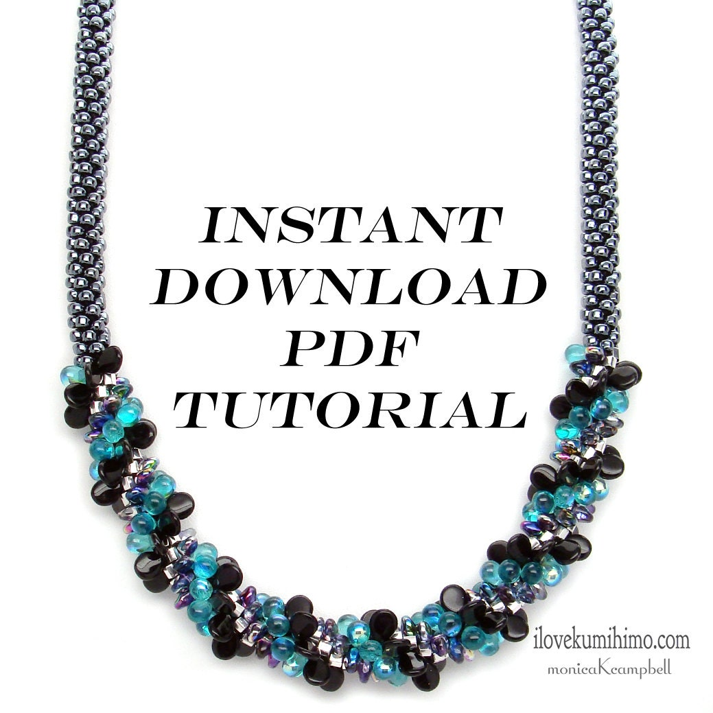 kumihimo beaded necklace instructions