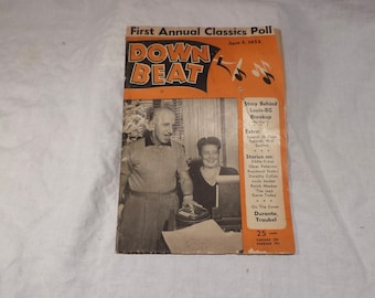 Down Beat Magazine, Vintage Music History, June 1953