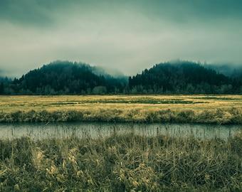 Oregon River Photograph, Oregon Landscape Photography, Mountain Photograph, Landscape Photograph, Fine Art Photograph, Wall Decor, Umpqua