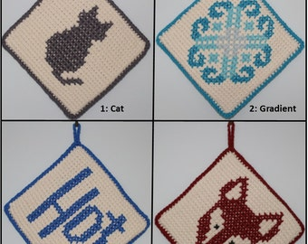 Pot holder, hot pad, trivet - choice of fun motifs and colours