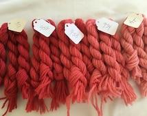Vintage - Orginal Paternayan - Persian Wool Needlepoint Yarn - Seeing Red - gradient colors - 15 - 8 yard skeins (3 of each)