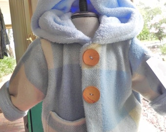 Childrens coats/jackets made from Vintage woolen blankets