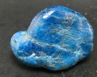 """Neon blue Apatite Stone from Madagascar- 33 Grams - 1.6"""""""