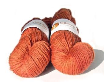 Hand dyed yarn BFL Aran 'Flame'