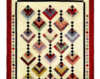 """HANGING GARDENS    A Strip Club Quilt Pattern for 2 1/2"""" strips  By:  - Cozy Quilt Designs"""