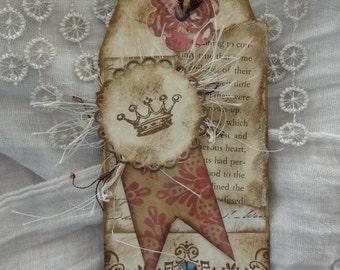 Vintage Tag Crown Fringe Bookmark Journal