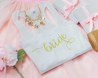Bride Tank Top, Wedding Tank Top, Wifey shirt, Gifts for Bride to be, Wifey top, Bride Shirt, Bridal Shower Gift, Bachelorette Party