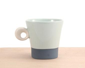 slip-cast porcelain demi mug
