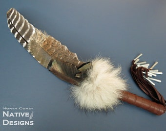 Smudge Prayer Fan with Wolf Fur
