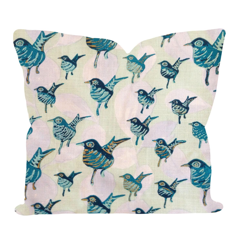 Decorative Pillows With Birds : Lulu DK Dancers Bird Duralee Decorative Pillow Cover Throw
