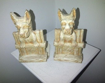 Vintage Burwood Scotty Dog Bookends