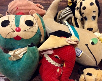 7 Vintage R. Dakin Sawdust Plush Animals Made In Japan, Dakin Dream Pets, Vintage Dakin Stuffed Animals, Vintage Plush Toys, Dream Pet