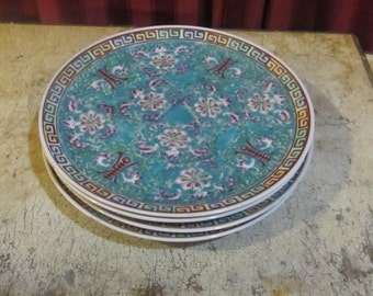 Set of Five Asian Plates